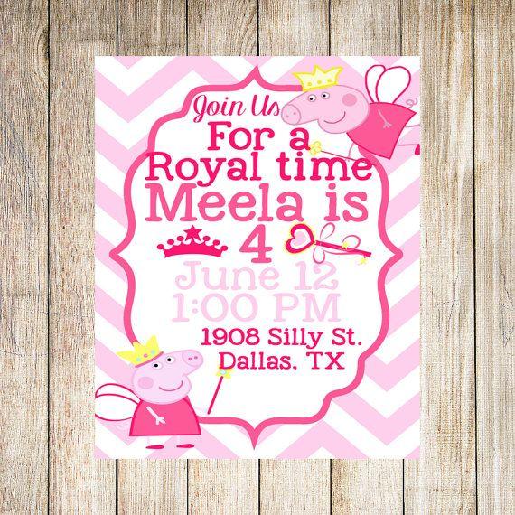 Peppa pig pink invites birthday party digital printable invitation peppa pig pink invites birthday party digital printable invitation filmwisefo Choice Image