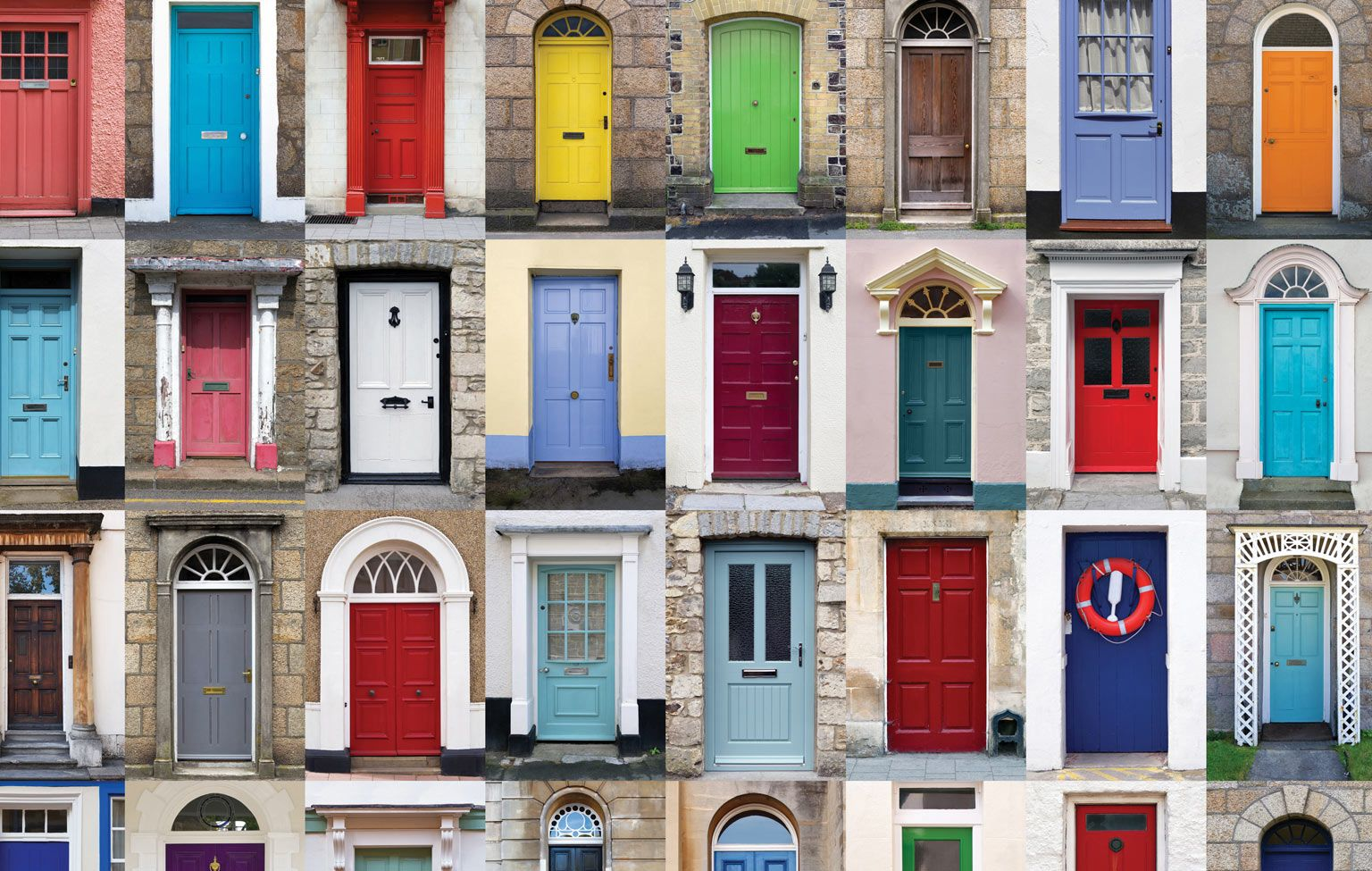 The Only 6 Front Door Colors You Need! | Painted doors, Doors and House