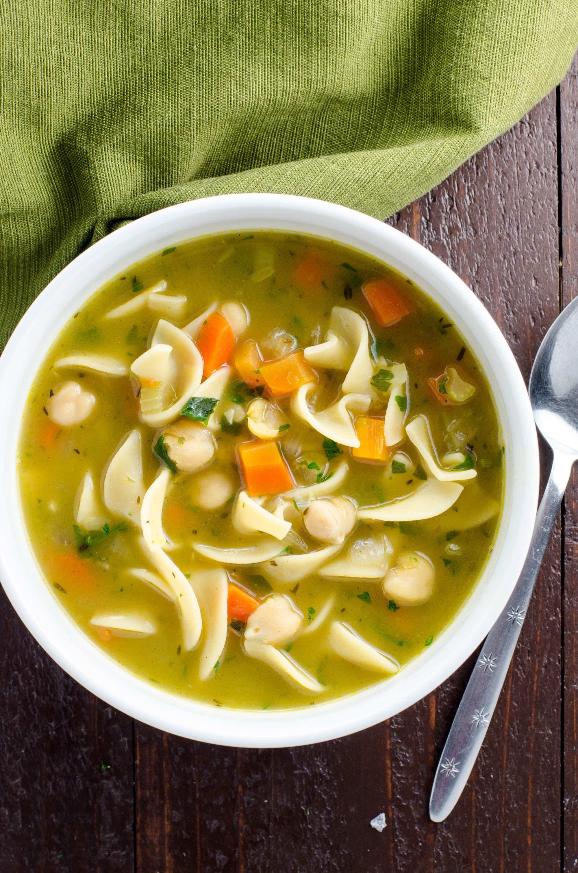 Chickpea Noodle Soup #chickpeanoodlesoup