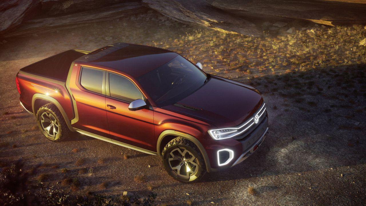 VW Atlas Tanoak Pickup Wuchtbrumme erobert das Paradies