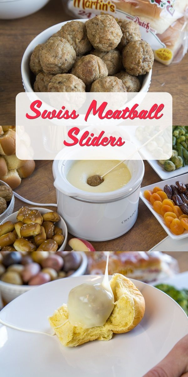 Fondue Bar #meatfonduerecipes Meatball Slider - Fondue Bar Recipes #meatfonduerecipes