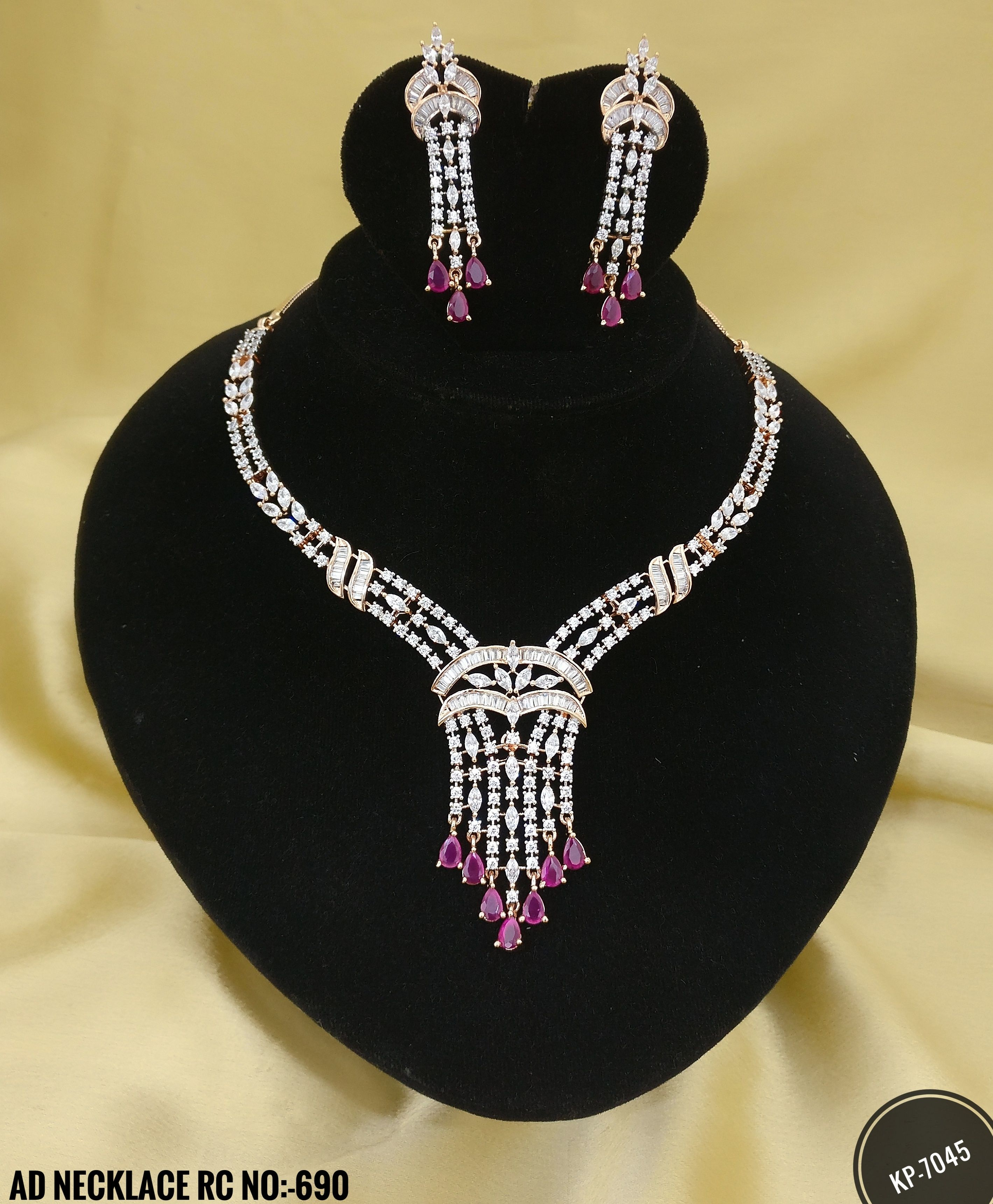 ac2cd96c3 American Diamond Party Wear Necklace Set. Rama Creations Manufacturer    Wholesalers of Imitation Bridal Jewellery in India.