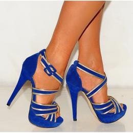 Blue High Heels - I Love Shoes, Bags & Boys