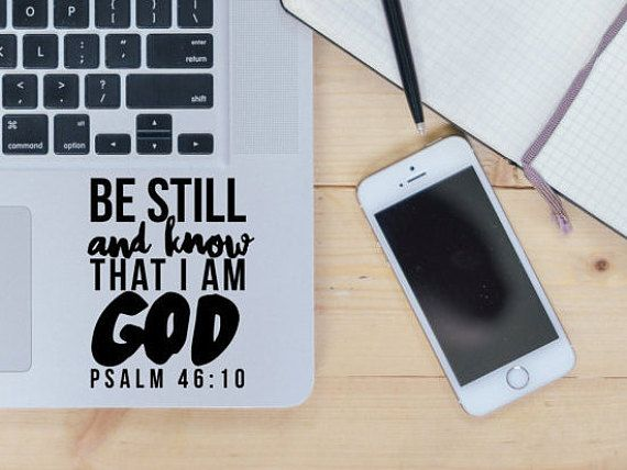 Be Still Sticker / Vinyl Decal / Laptop Sticker / Car Decal / Bible Quote…