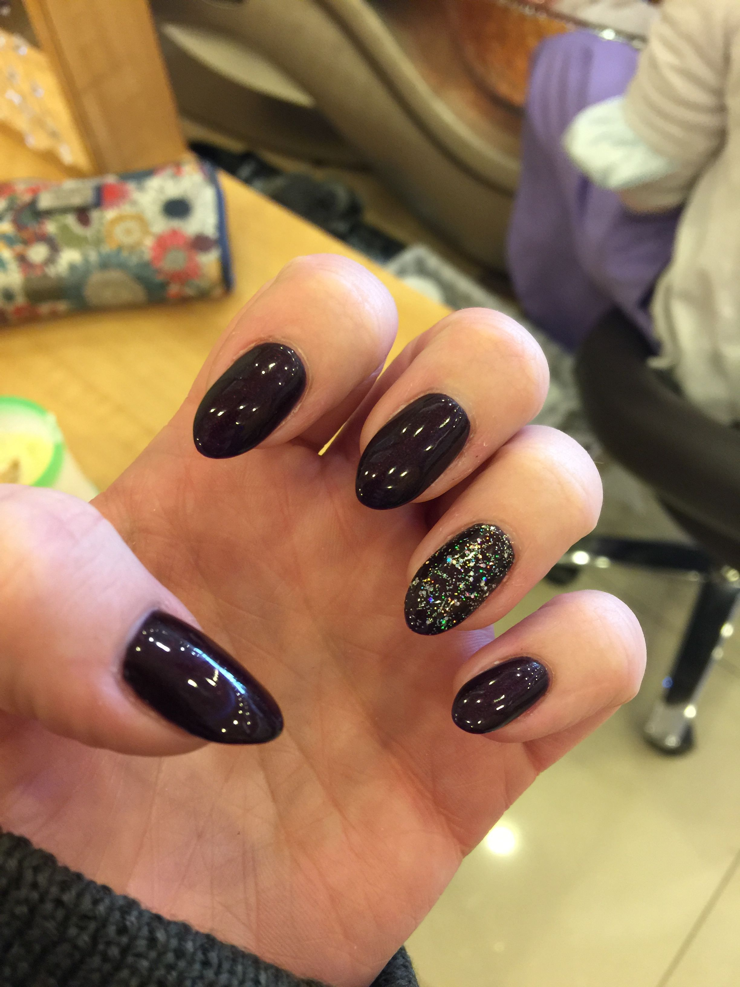 Almond shaped gel nails - Color is gel OPI Every Month is ...