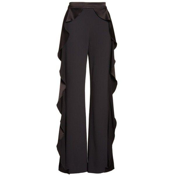 a894777e9782 Women's Alice + Olivia Wallace Side Ruffle High Waist Pants ($395) ❤ liked  on