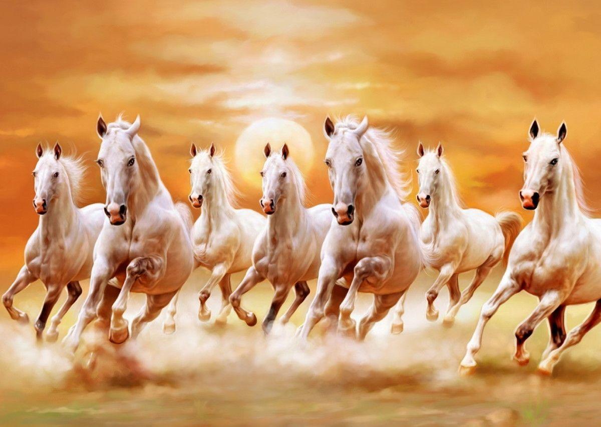 Poster Pinturas Famosas Gravura 188 Quadros Posters Elo7 Horse Wallpaper Seven Horses Painting Horse Canvas Painting