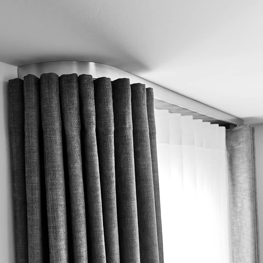 Moderne Schiene Mit Blende Optik Edelstahl Befestigung Deckentrager Vorhangaufhangung Mit Wellenband Store Und Verdunklungsstoff Welle Band Stoff Store