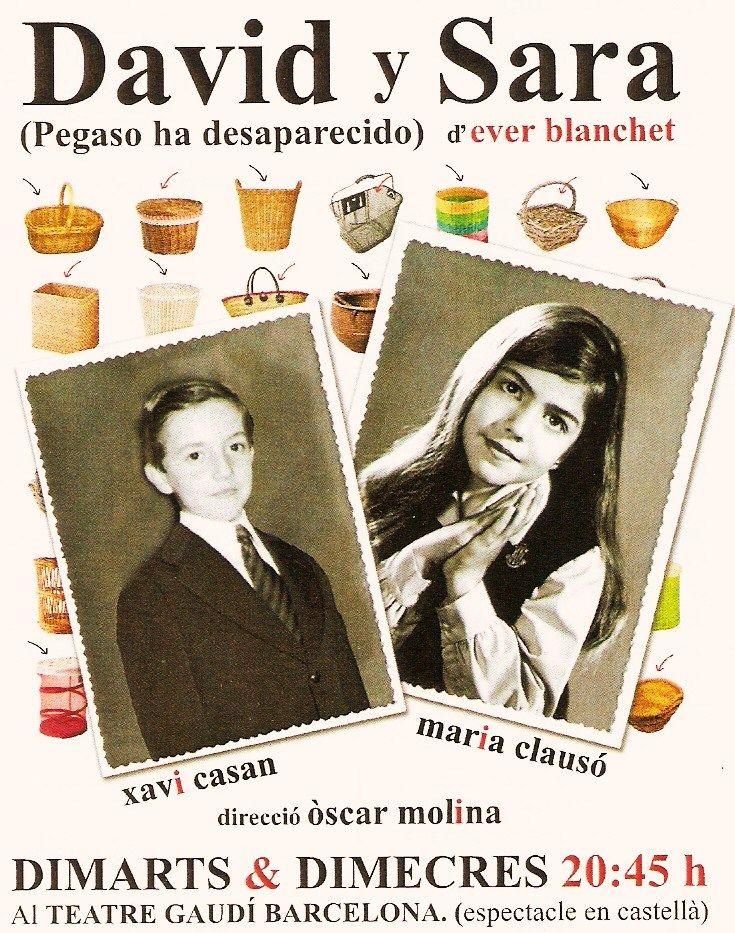 DAVID Y SARA os esperan en el Teatre Gaudí Barcelona los martes y jueves