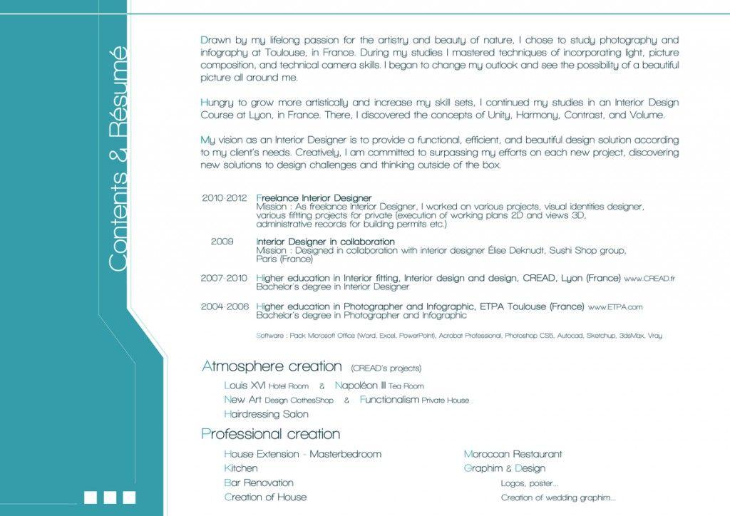 Innenarchitektur Fähigkeiten interior design resume skills resume sles