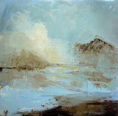 Erin Ward Salt Marsh Acrylic On Canvas Jpg 400 392 Seascape