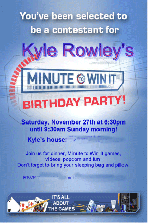 How to Throw Your Own Minute to Win It Birthday Party Birthdays