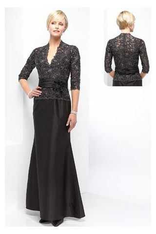Best Seller Dress with the Exquisite lace Bodice and Ankle-length Skirt