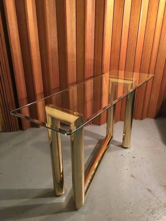 Karl Springer Z Shaped Console Table Mid by OffCenterModern