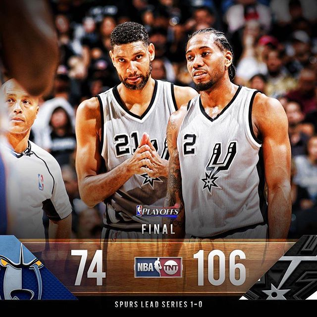 @spurs take Game 1 against the @memgrizz. #NBAPlayoffs