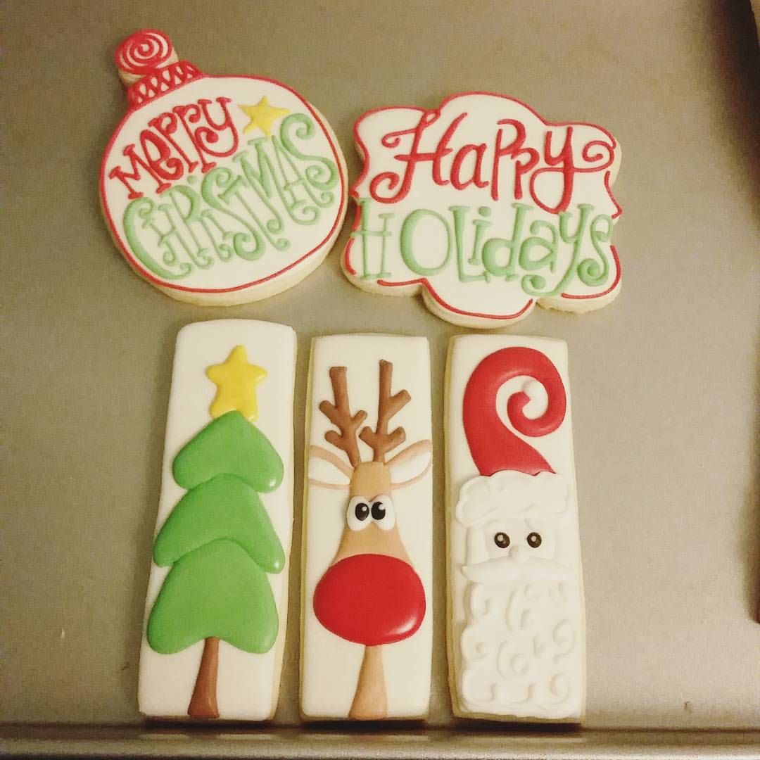 Christmas cookie icing ideas