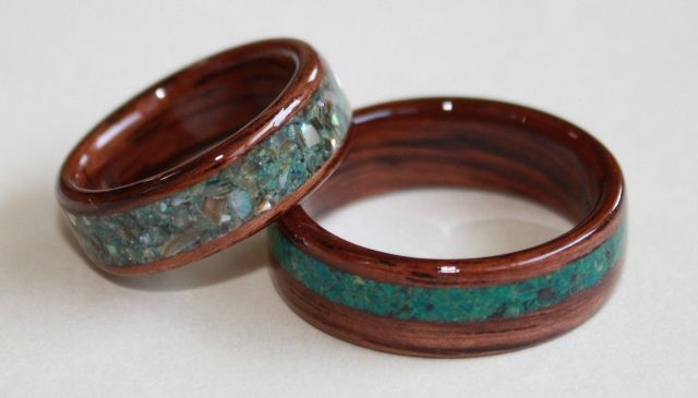 with inlay bevel image rosewood edge ursa rings ring tungsten and timeless