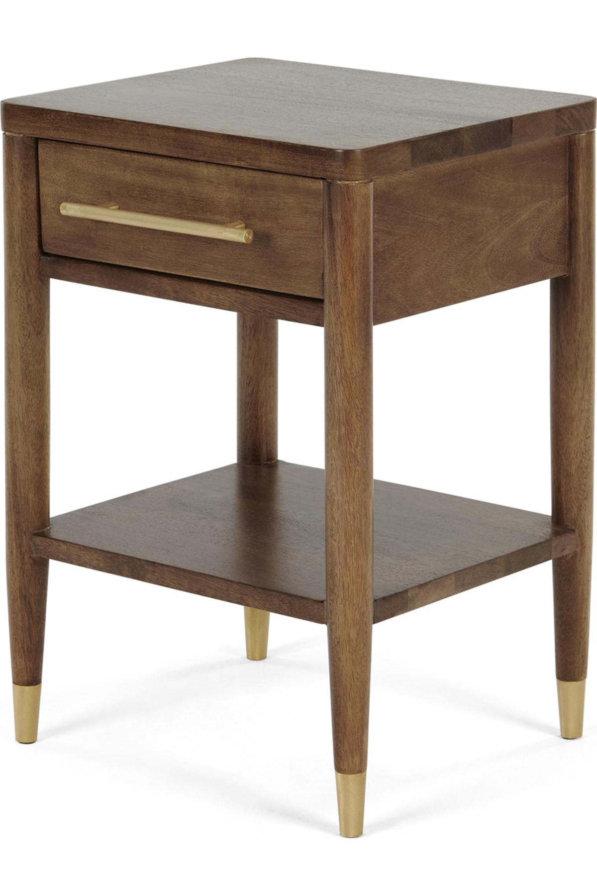 Hix Bedside Table Mango Brass Bedside Table Decor Table