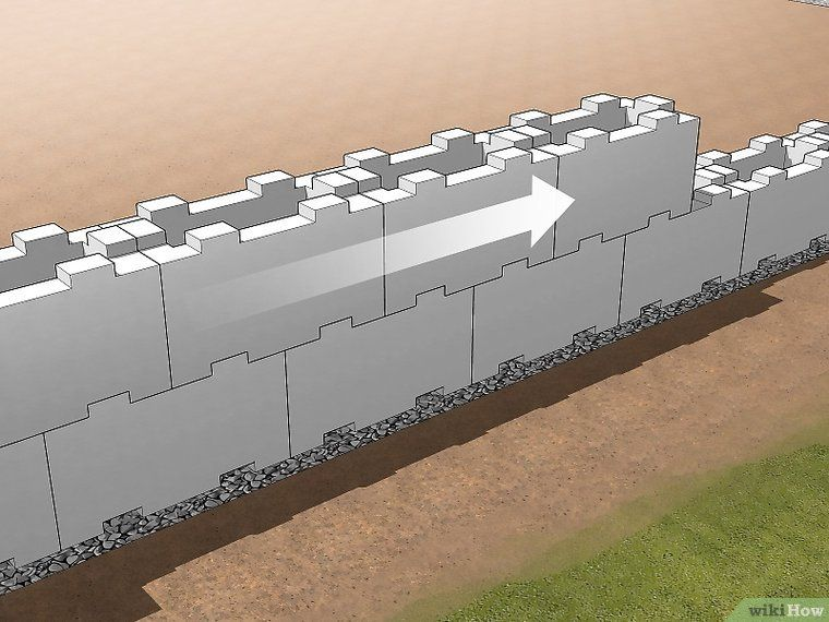 Build A Mortarless Concrete Stem Wall With Images Concrete Wall Concrete Brick Wall