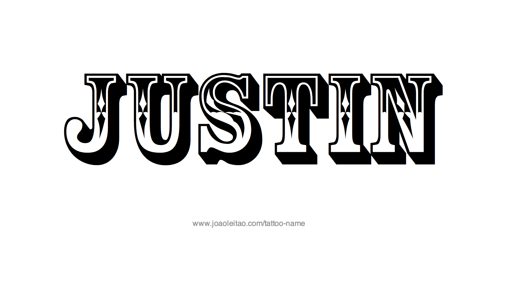 Justin Name Tattoo Designs