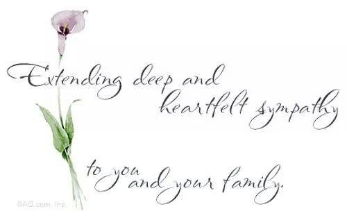 Sorry For Your Loss  Sympathy    Condolences Grief