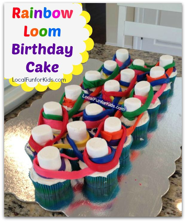 Rainbow Loom Birthday Cake For A Kid's Party