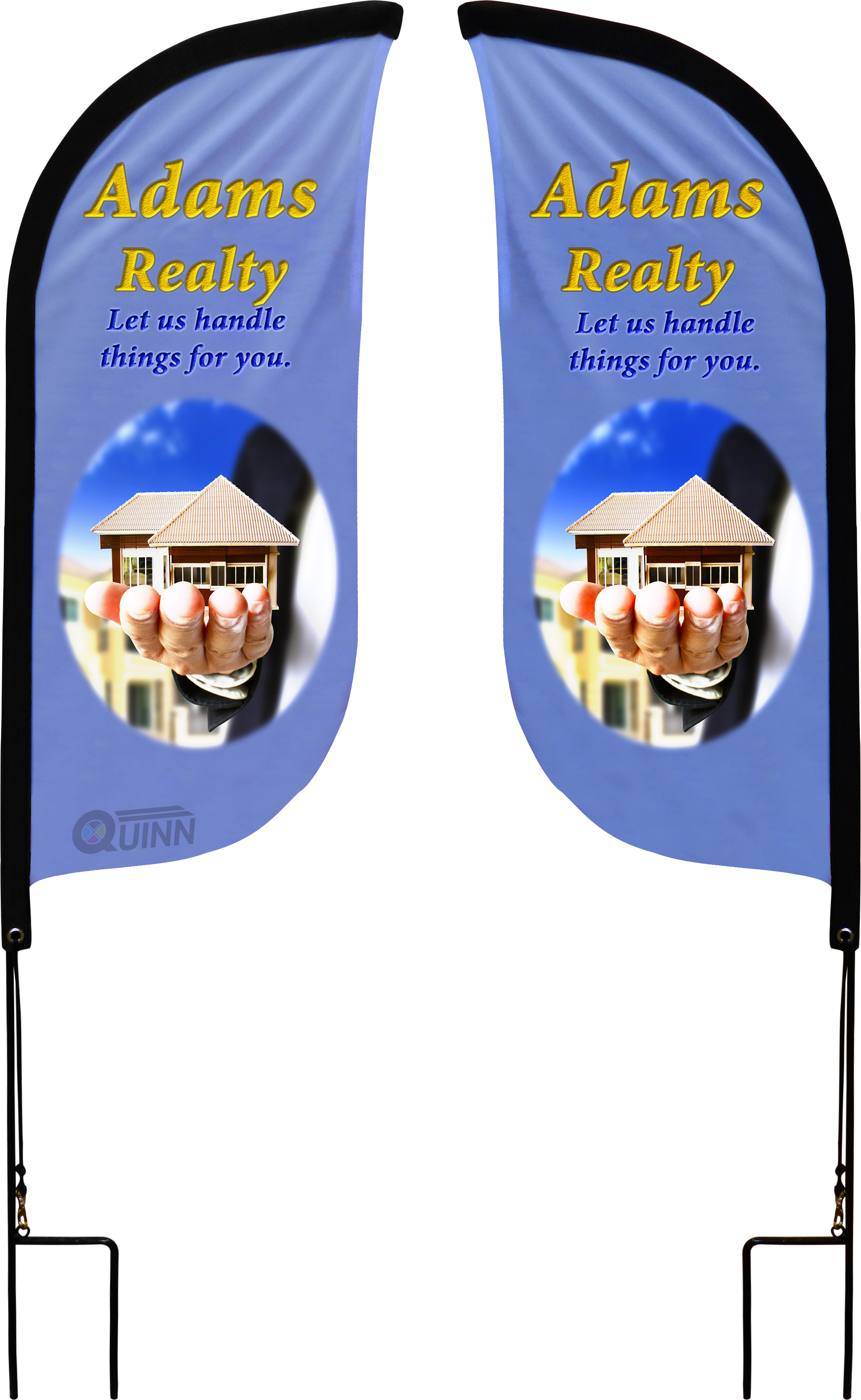 Garden Flags To Promote Your Realty Business From Your Home Or Your Client S Trade Show Display Realty Flag