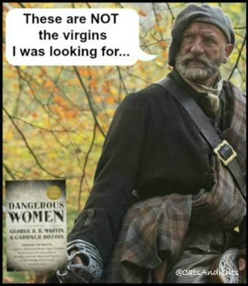 National Read A Book Day  What the #Outlander characters are reading: @Writer_DG  Dougal: Dangerous Women (Virgins) pic.twitter.com/ex5jFM4fdj