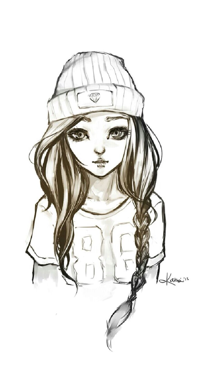 Black And White Cocoppa Girl Iphone Wallpaper Hipster Drawings Hipster Girl Drawing Cool Drawings