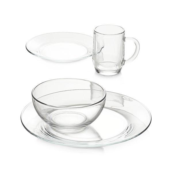 Moderno Glass Dinnerware    Crate and Barrel
