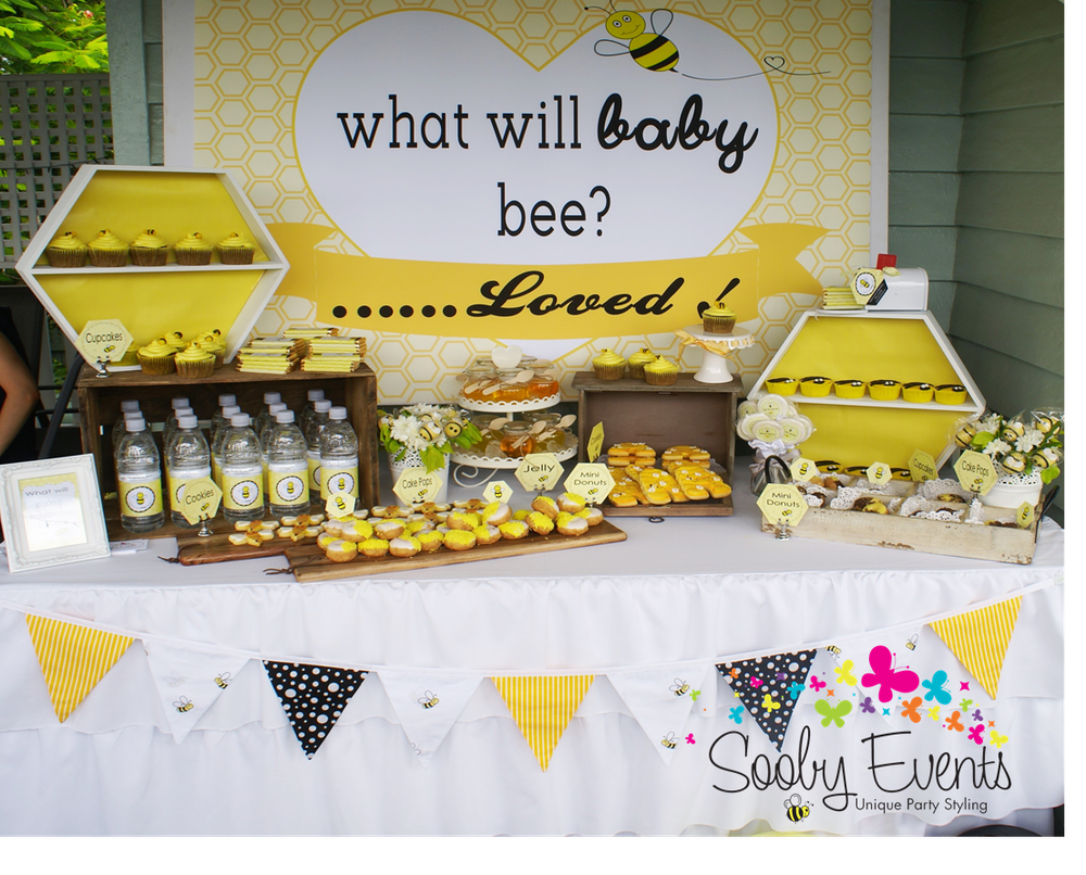 Bees Baby Shower Party Ideas Photo 1 Of 11 Bee Baby Shower Bumble Bee Baby Shower Decorations Bee Baby Shower Decoration