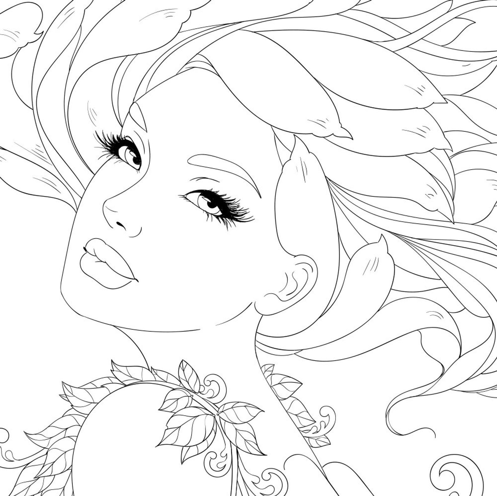 10 PDF Coloring Pages Flower Collection Coloring pages