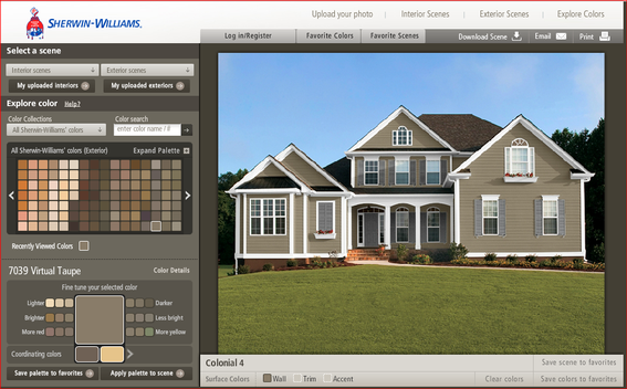 Stunning Exterior House Paint Color Visualizer Gallery - Amazing ...