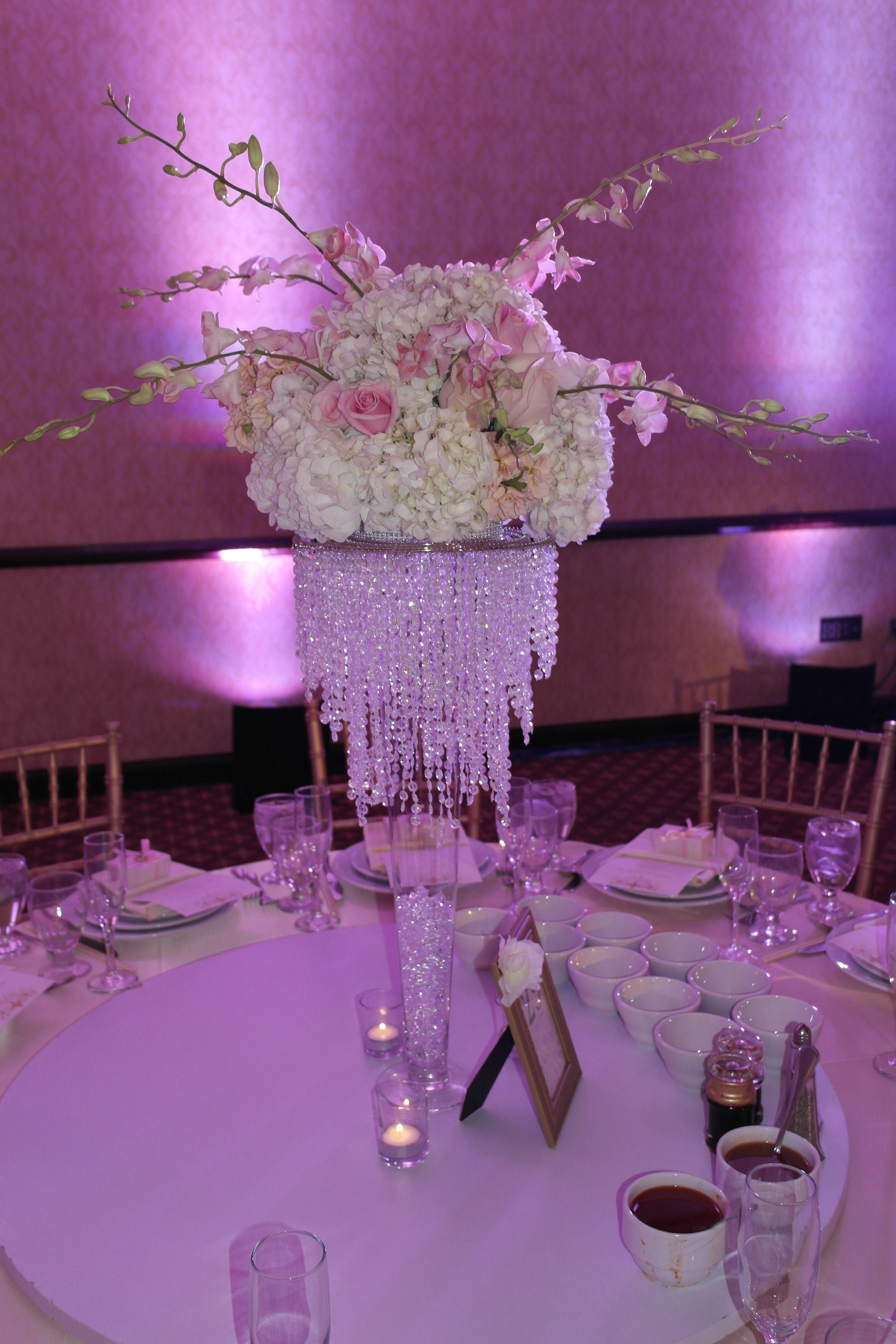 Wedding decoration ideas purple  Pink wedding centerpiece  Wedding  Pinterest  Pink wedding