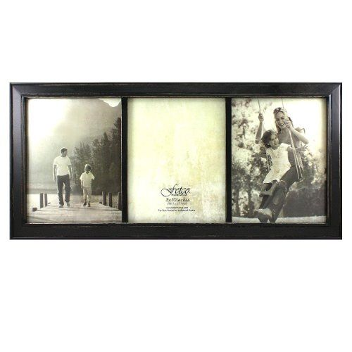 Fetco Home Decor Longwood Triple Frame Rustic Black You Can