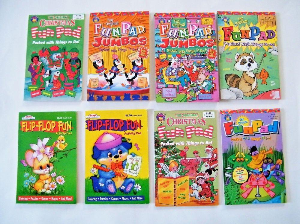 8 The Original Fun Pad Activity Books Jumbos Flip Flop Fun