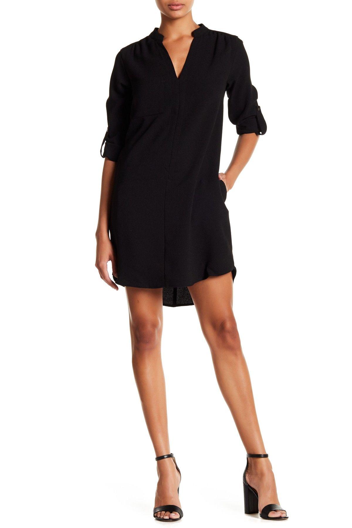 Lush Novak 3 4 Sleeve Shift Dress Nordstrom Rack In 2021 Classic Shirt Dress Shift Dress Nordstrom Dresses [ 1800 x 1200 Pixel ]