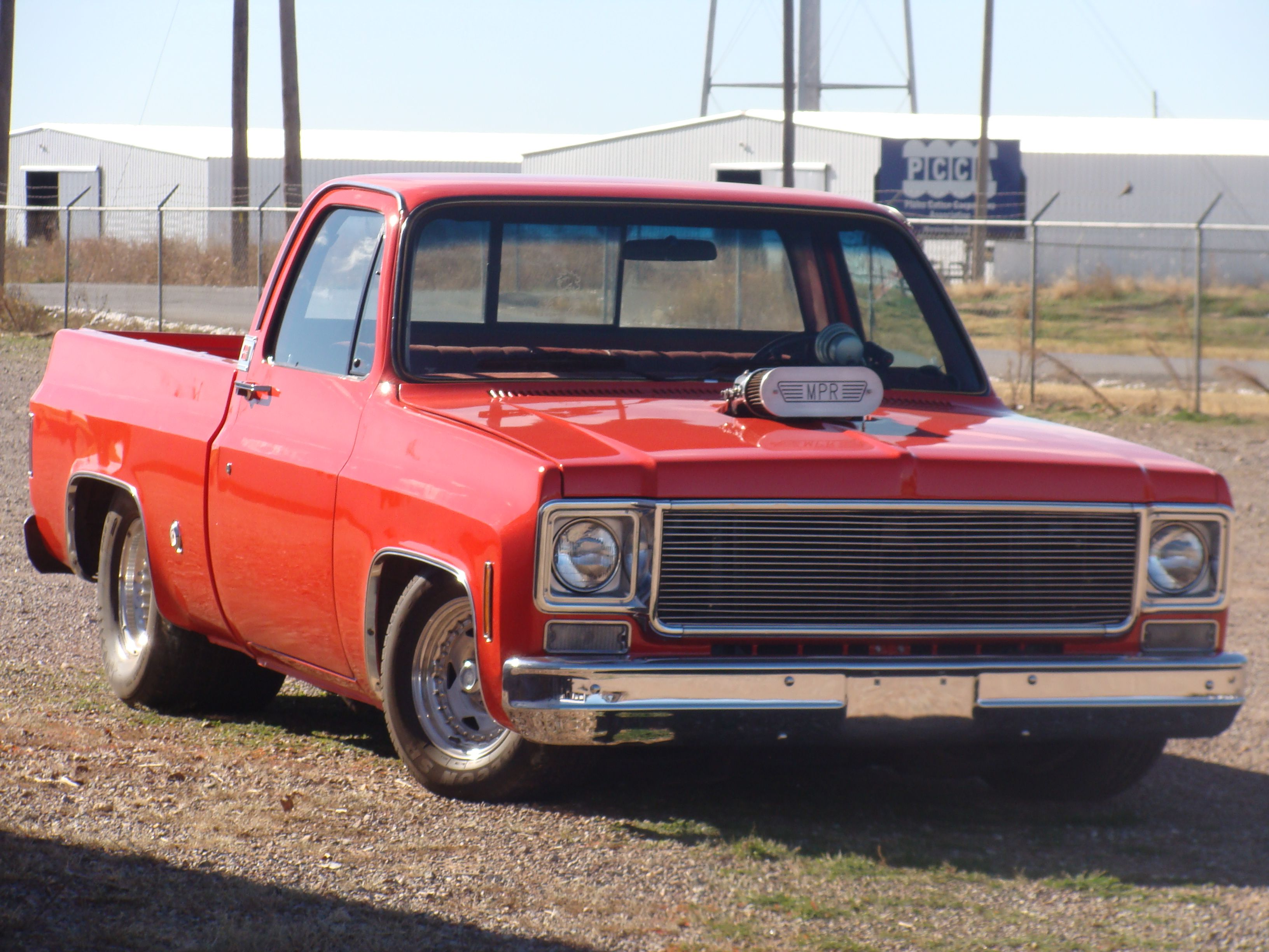 1975 Chevy C10 Pro Street Truck At Work With Images Trucks
