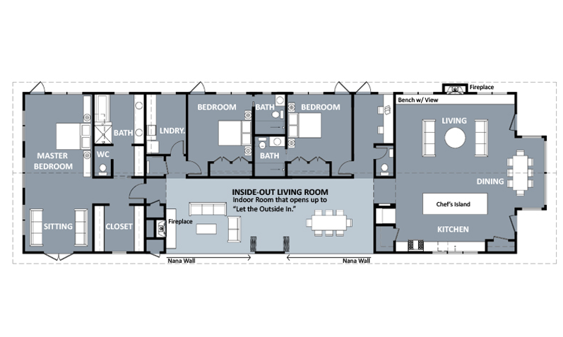Functional Shotgun House Floor Plan - Google Search