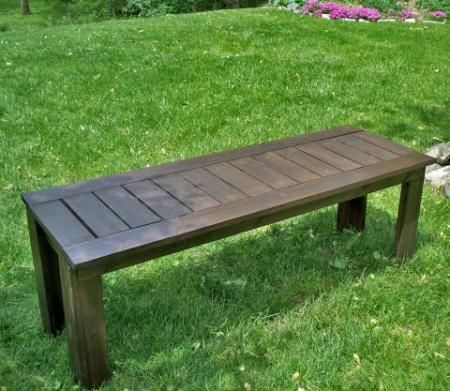 Build A Simple Outdoor Bench Looks Pretty Easy