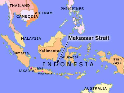 Map of indonesia showing the makassar straight oceans pinterest map of indonesia showing the makassar straight gumiabroncs Images