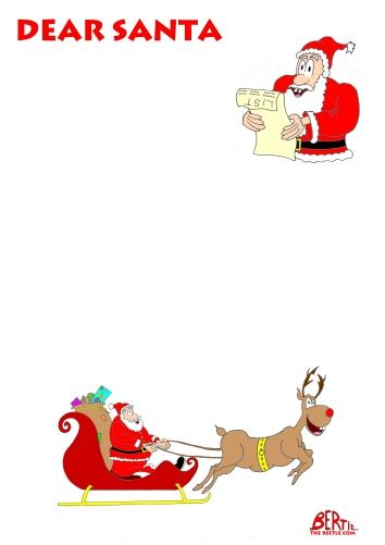 Letter to santa free letter to santa template kids stuff bertie the beetle write a letter to santa with your children this christmas with our free letter to santa print out spiritdancerdesigns Images