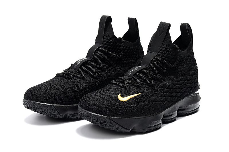 huge discount 890df 5d706 Official Cheap LeBron Shoes 2018 Lebron 15 XV Full-Black Gold