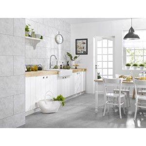 Dalle Murale Pvc Blanc Satine Dumawall L 65cm X L 37 5cm Ep 5mm