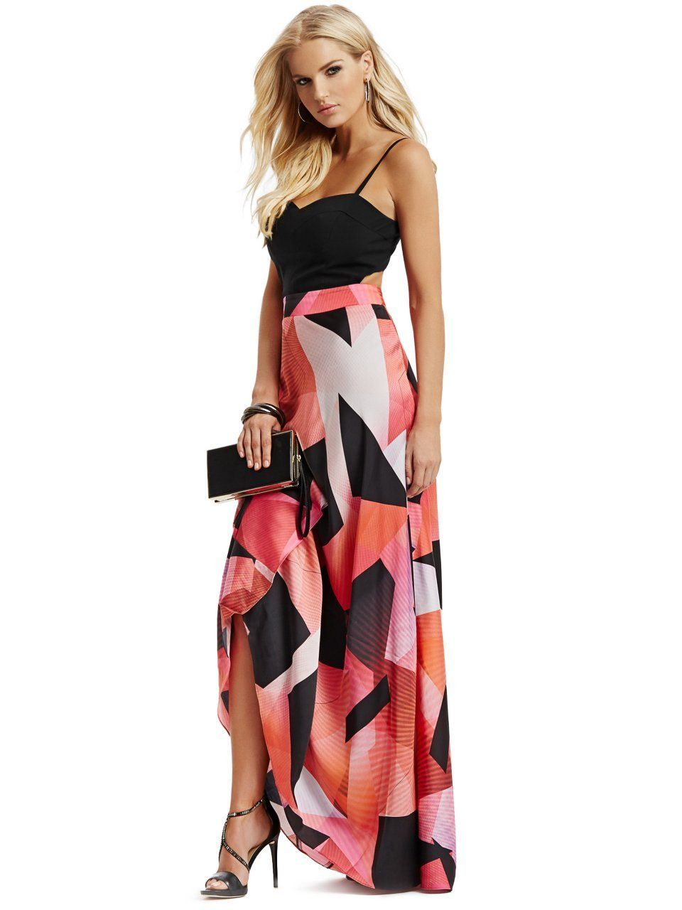 GUESS by Marciano Women\'s Night Lights Printed Maxi Dress ...