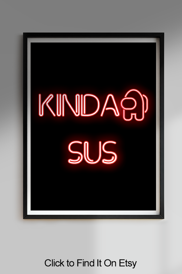 Among Us Printable Digital Download Digital Iphone Wallpaper App Neon Signs