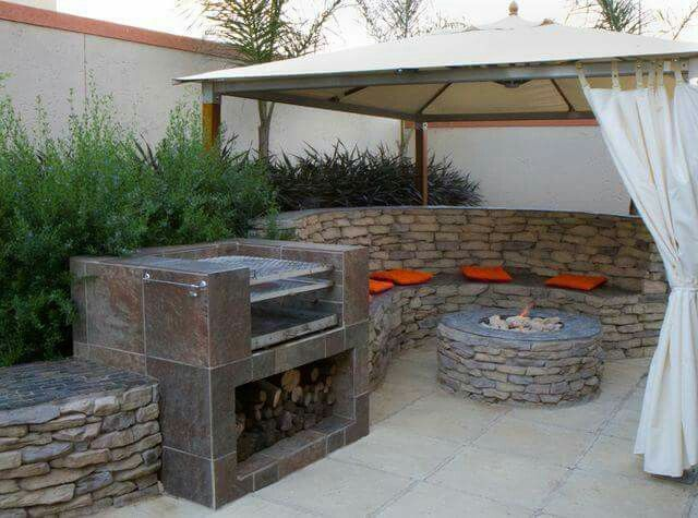 Firepit And Braai Garden Ideas Backyard Landscaping