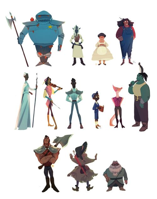Look At That Taz Line Up Animation Characters The