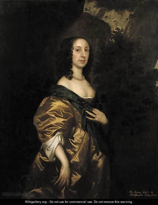 Portrait of Elisabeth Harvey, wife of Heneage Finch (circa 1647-1719) - (after) Sir Peter Lely