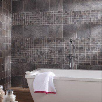 Mosaïque sol et mur Vestige gris | Leroy Merlin | Frise | Pinterest